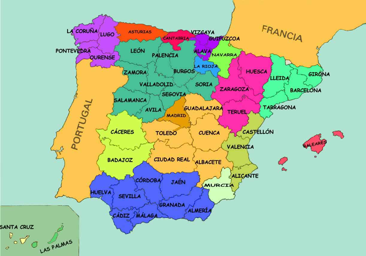 Map Of Spain Zamora.Provinces Of Spain Spanish Property Magazine